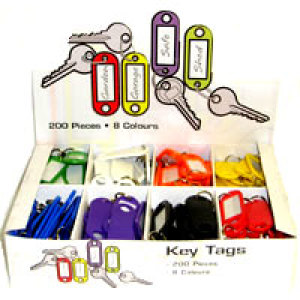 Plastic Key Labels (Assorted Colours)
